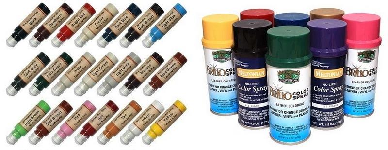 Краска для кожи в разных формах выпуска