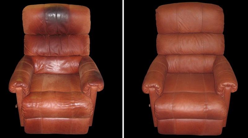 Покраска может преобразить кожаную мебель