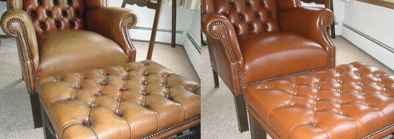Восстановление кожаной мебели - отличный результат